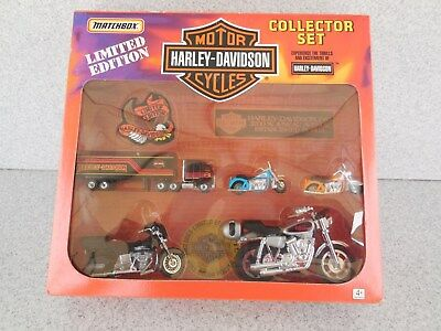 Limited Edition Matchbox Harley Davidson Collector Set / Prompt Safe Shipping