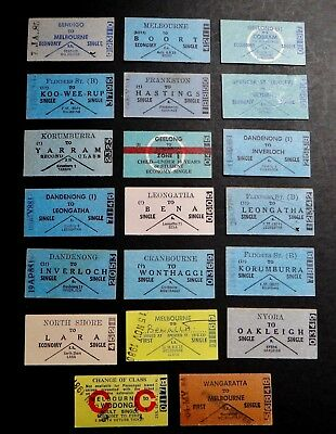 Victorian Railways ..  20  Original Country Tickets Set 31