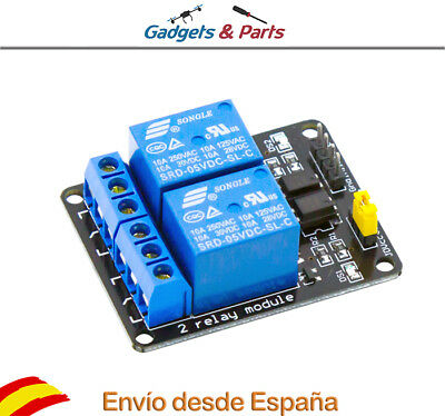 Modulo Rele 2 Canales 5V 10A ARM PIC DSP para Arduino, Raspberry - Nuevo!!!