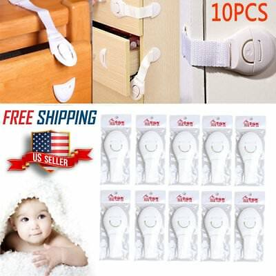 10x Baby Kids Adhesive Door Cupboard Cabinet Fridge Drawer Safety Locks Latches