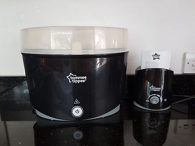Tommee Tippee Black Electric Steriliser And Bottle Wormer