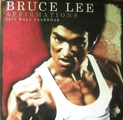 Rare 2011 Bruce Lee Affirmations Wall Calendar Jeet Kune Do Kung Fu Martial Arts