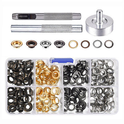 120Pc 6MM Eyelets Buckles Mounting Tools DIY Leather Craft Rivets Replacement