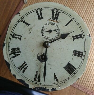 "Antique ships wall 6"" clock movement swiss made fully working dial hands s/sweep"