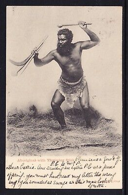 Aboriginal withThrowing Stick - Kerry and C*, Sydney, Australia.