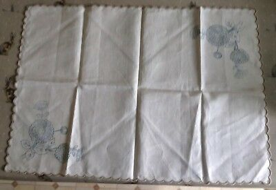 Linen Transfer Printed Small Table Runner To Embroider - Floral.