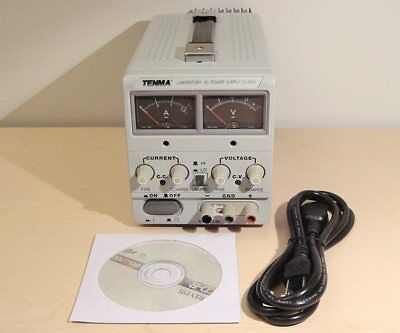 TENMA Laboratory DC Power Supply Model 72-2005 0-18V 3A Tested Includes Manual