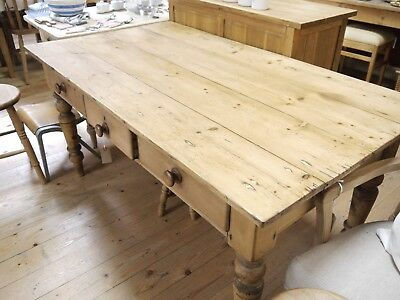Antique pine work table