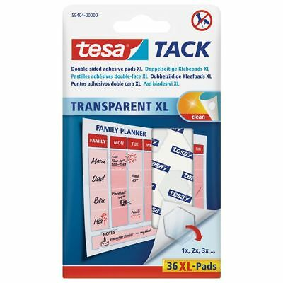 TESA Tack Double Sided XL Adhesive Pad - Transparent (Pack of 36)ref 59404