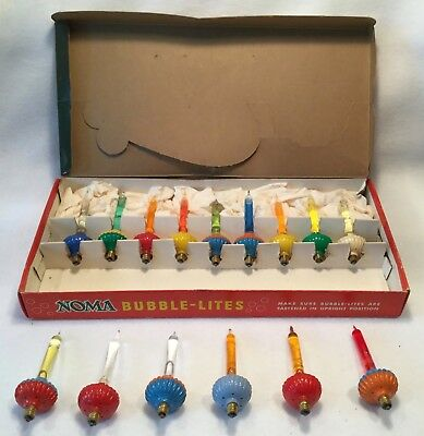 c.1940s 15pc NOMA Multi-Color BUBBLE LITES Christmas Lights - TESTED & WORK