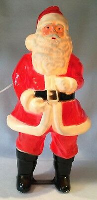 "Vintage 17"" Blow Mold SANTA CLAUS w/ BLUE EYES Christmas Figure - UNION PRODUCTS"
