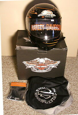 Harley Davidson Screamin Eagle Motorcycle Helmet Lg. - New, With Extras