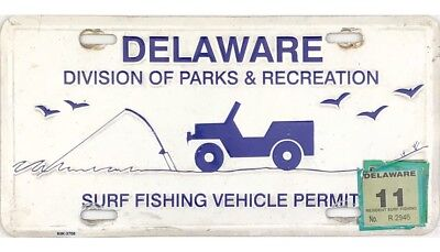Current Style 2011 Delaware SURF FISHING VEHICLE License Plate