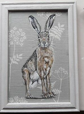 Original wild hare Picture Painting Vanessa  Arbuthnott Cow  parsley Fabric