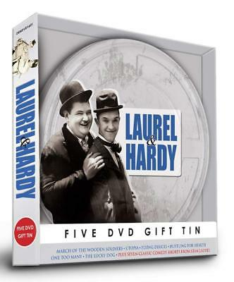 Classic Comedy Duo LAUREL & HARDY Collection 5 DVD Tin Gift Set Stan & Ollie