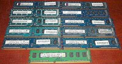 11 2GB DDR3 PC Memory 1Rx8 PC3-12800U Kingston Samsung Ramaxel SK Hynix Nanya