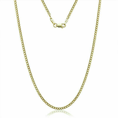 "14K Solid Yellow Gold Cuban Link 2.40 Mm Women/ Men's Necklace Chain 16""-30"""