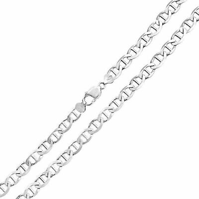 """Mens Womens Solid 925 Sterling Silver Mariner Chain Necklace Italy 16''-30"""" 2mm"""