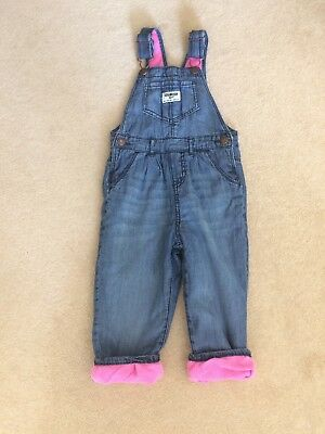 Osh Kosh Girls Denim Dungarees 18-24 Months