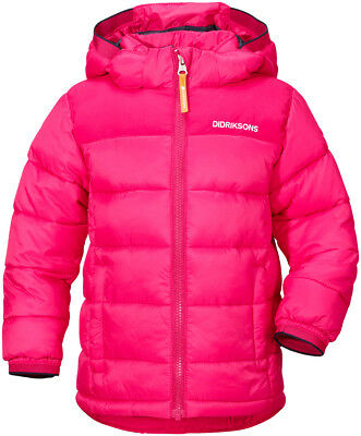 Didriksons Laven Kids Boys Girls Winter Padded Puffa Jacket | Warm Cerise