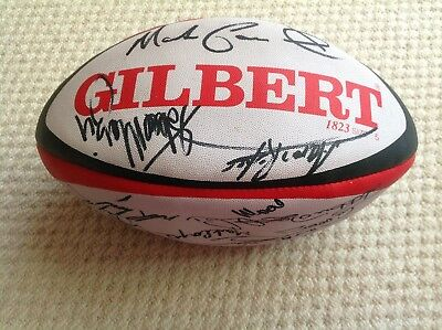 1995 Rugby World Cup signed rugby ball.