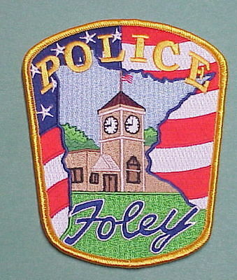 Foley  Minnesota  Mn  ( Flag / Clock Tower )  Police Patch    Free Shipping!!!