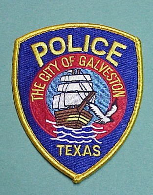 Galveston  Texas  Tx  ( Tall Ship )   Police Patch   Free Shipping!!!
