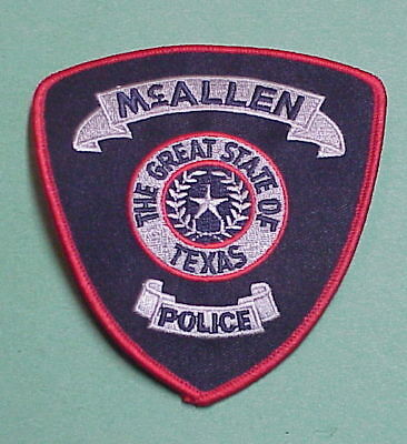 McALLEN  TEXAS  TX  POLICE PATCH  VERY NICE!!    FREE SHIPPING!!
