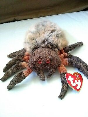 TY Beanie Baby - HAIRY the Spider (6 inch) - MWMTs Stuffed Animal Toy