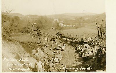 RPPC Indian Hill Collinsville Conn CT New Grade Looking South Postcard