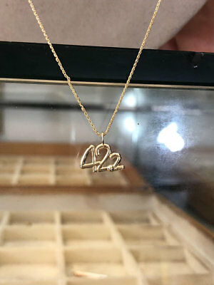 42.2 Gold Pendant Necklace Marathon Iron Man Triathlon Jewelry for Sports Fans