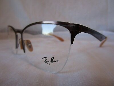Ray Ban Eyeglass Frame Rx6345 2732 Brushed Light Brown 52-17-135 New & Authentic