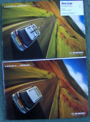 2X Sabaru Legacy Outback Uk English Text 1999 Sales Brochures