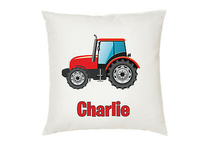 Personalised Tractor Kids Boys Girls Cushion Cover Gift Birthday Your Name
