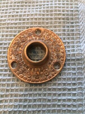 "Antique Fancy Brass Victorian Door Plate Cover Eastlake 2"" Ornate Back Rare"