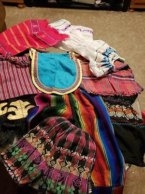 Native American hand made lot shorts dresses, purse scarf and more various sizes