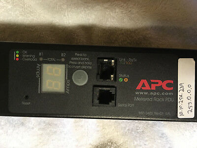 APC AP7832 Metered Rack PDU, Zero U, 30A, 120V, (24) 5-20 TESTED L5-30P #61