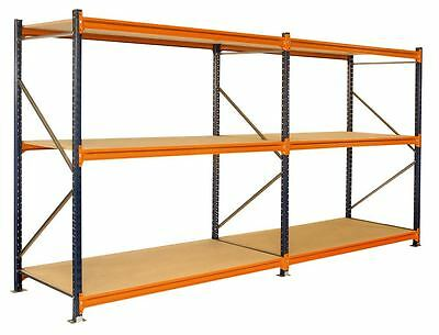 3.8m x 600mm Longspan Double Run 6 Shelves Boltless Shelving RRP £345 Free Del