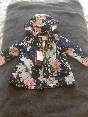 Girls Ted Baker Blue Blossom Coat 12-18 Months (New With Tags)