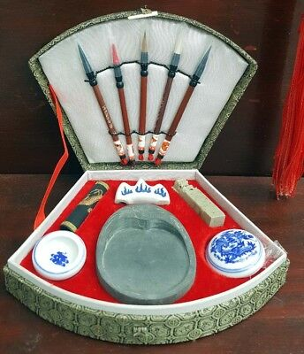 Chinese vintage calligraphy writing set complete