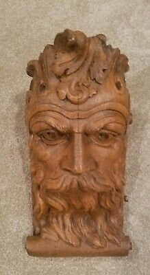 1970's Vintage Faux Bois Mythical Man Wall Corbel Shelf by WOODEN NICKEL
