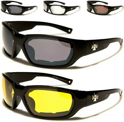 Choppers Motorcycle Goggles Sunglasses Sports Padded Motor Bike Bikers Cycle