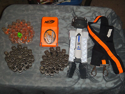 Nerf Vulcan EBF-25 Machine Gun LOT OF 3 Ammo Belts TRIPOD STRAP Replacement LID