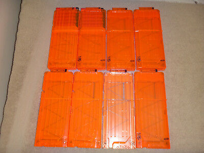 Nerf 12 Round Max Dart Ammo Clip Magazine LOT OF 8 MAGS Replacement PART NICE