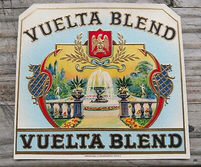 Vuelta  Blend 1910-1928 CIGAR BOX  LABEL- AMERICAN LITHOGRAPHIC Co.