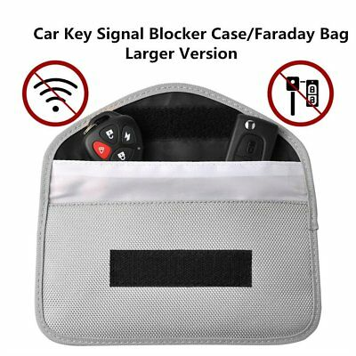 Large Faraday Day ~ RFID Card & Car Key / Fob Signal Blocker ~ Safe Pouch ~ Grey