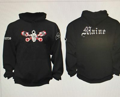 Sylo Hooded Sweatshirt Xl Support Your Local Outlaws Mc Maine