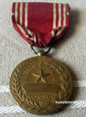 Orig. Orden USA Efficiency Honor Fidelity Medal for Good Conduct am Band