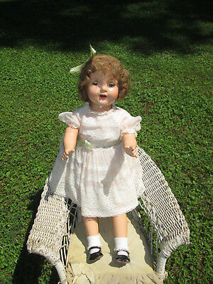 Shirley Temple Type 28 In Composition Doll W/ Childs St Dress Rare