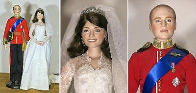 Royal Wedding Puppen PRINCE WILLIAM & PRINCESS KATE  Porzellan